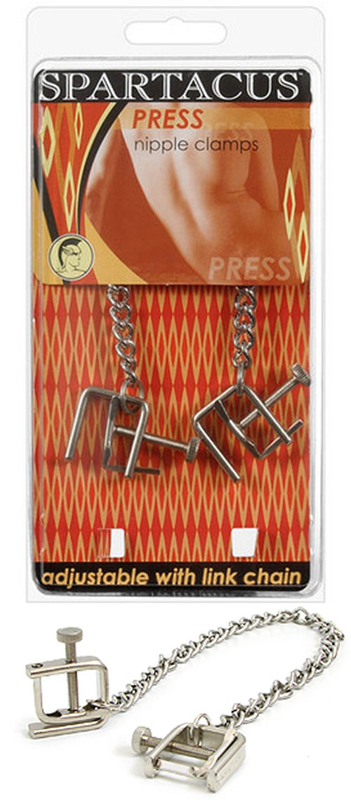 Adjustable Press Nipple Clamps With Chain