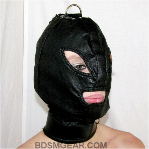 Bondage Hood with Top Ring