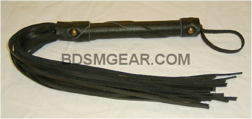 black leather flogger bondage bdsm adult toys