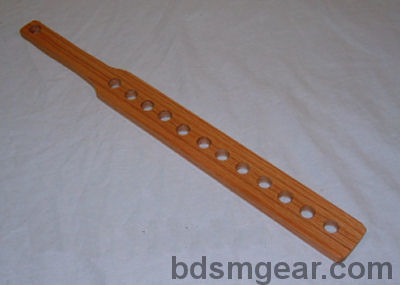 Heavy Wooden paddles with holes for sale, bdsm fetish & bondage