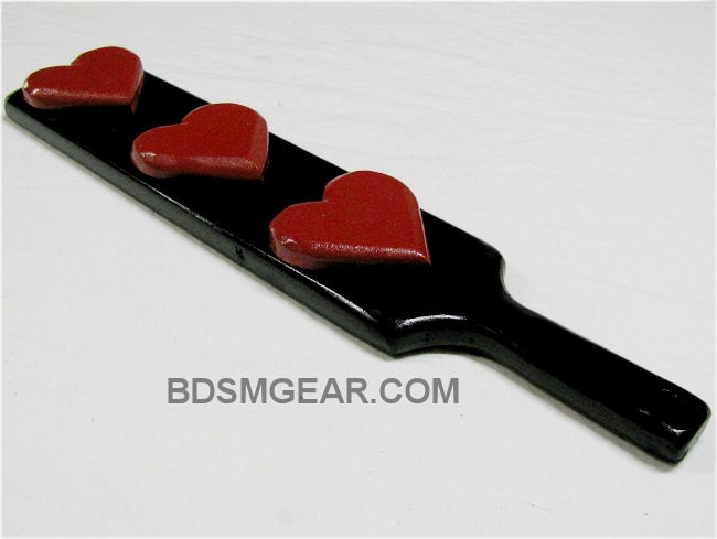 Triple Red Valentines Heart Paddle