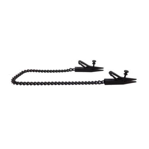 Adjustable Tapered To Point Black Nipple Clamps