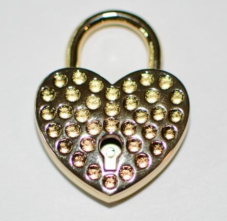 Fancy Brass Heart Lock