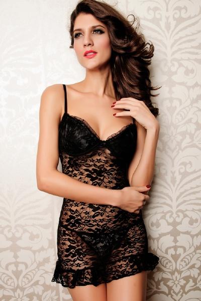Sexy Black See-thru Lingerie