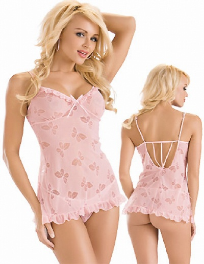 Pink Butterfly Teddy