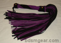 101 Lash Black and Purple Suede Floggers