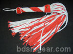 101 lash Red and White Flogger