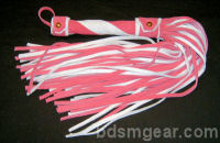 101 Lash Pink and White Suede Flogger