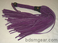 101 Lash Purple Suede Flogger with Black Suede Trim
