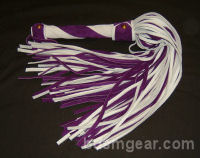 101 Lash White and Purple Suede Flogger