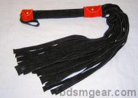 1/2 Inch 20 Lash Black Suede Flogger