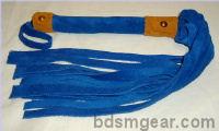 1/2 Inch 20 Lash Blue  Suede Flogger