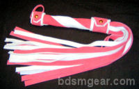20 Lash 1/2 Wide Pink and White Flogger