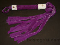 1/2 Inch 20 Lash Purple Suede Flogger