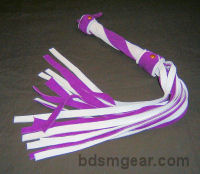 1/2 Inch 20 Lash Purple and White Suede  Flogger