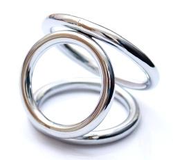 3 Way Metal Cock Ring