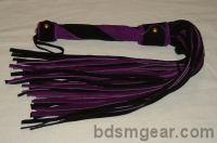 50 Lash Purple and Black Suede Flogger