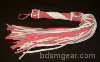 50 Lash Pink and White Suede Flogger