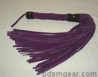 50 Lash Purple Suede Flogger with Black Trim