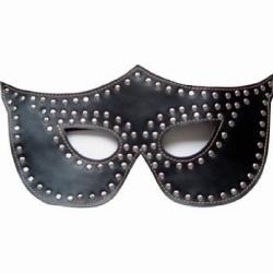 Studded Black Fetish Party Mask