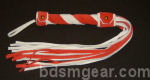 Red and White Suede Flogger