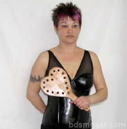 BDSM heart paddle With Holes