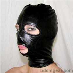 Latex Hood with Eyes and Mouth