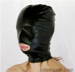 Latex Hood with Mouth Hole