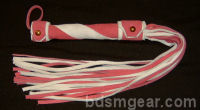 King Size Two Tone Pink and White Flogger