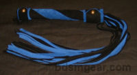 King Size Two Tone Standard Black  and Blue Suede Flogger