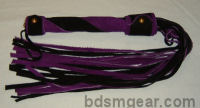 King Size Two Tone Black and Purple Suede Flogger
