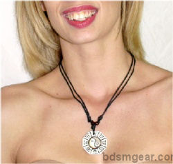 White Ying Yang Necklace