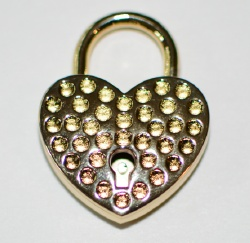 Fancy Brass Heart Lock