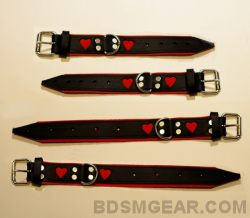 Bound Heart Deluxe Leather Cuffs